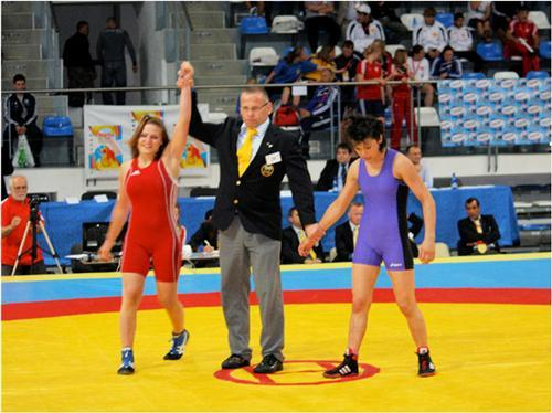 Martina Riegler - 5. Platz Junioren-EM (li)