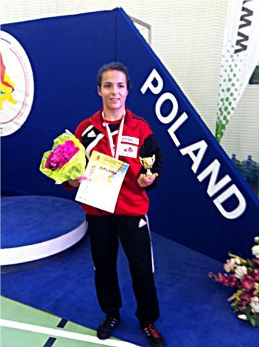 Martina Kuenz - 2. Platz Kadetten-EM